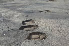 Potholes - The first sign of Spring!